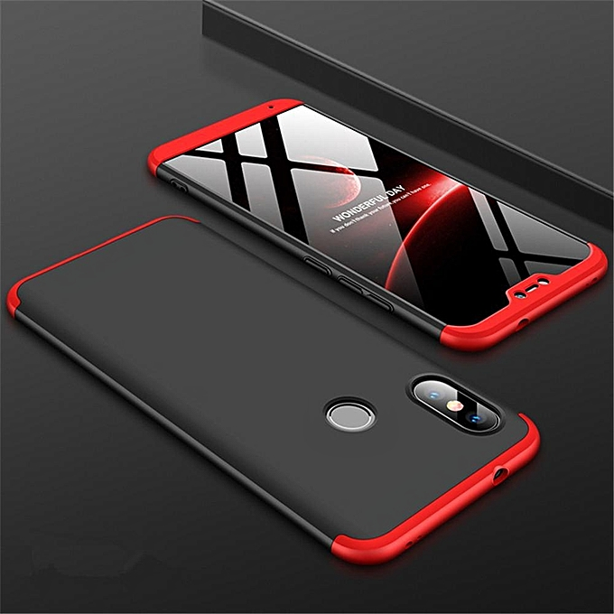 huge discount 6ea79 7931d For Xiaomi Mi A2 Lite Case 360 Degree Full Body Shockproof Protective Phone  Case 3 In 1 Armor Hard PC Back Cover For Mi A2 Lite 449188 Color-1