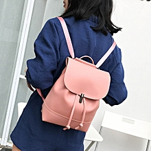 Xiuxingzi Vintage Pure Color Leather School Bag Backpack Satchel Women Trave Shoulder Bag