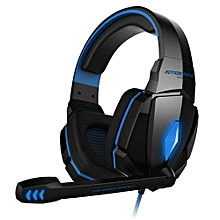 Headphone Gaming, G4000 Pro Gaming Headset Stereo Sound 2.2M Wired Headphone(Black Blue)