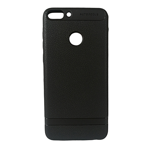 quality design 5a098 9636c Huawei P-Smart Back Cover - Silicone Rubber Finish Black