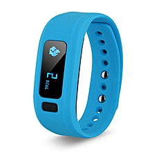Bluetooth 4.0 Smart Wristband Fitness Tracker For Android IOS  (Color:Blue)