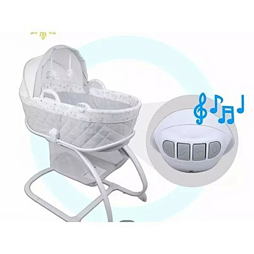 Generic 2-in-1 Moses Basket Bassinet Baby Carrier Bedside Crib (White)