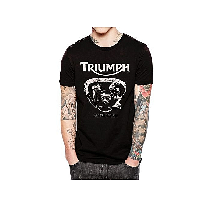 Rare Triumph Engine Mens Shirt Hot Motorcycle Biker Fashion T Black shrdCQt