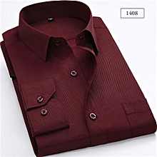 maroon official slim fit shirt