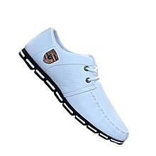 Men's Shoes Spring New Men's Shoes Peas Shoes Feet Breathable Shoes Casual Shoes-white