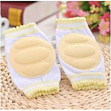 Infant Toddler Baby Knee Pad Crawling Safety Protector (A PAIR)-Yellow