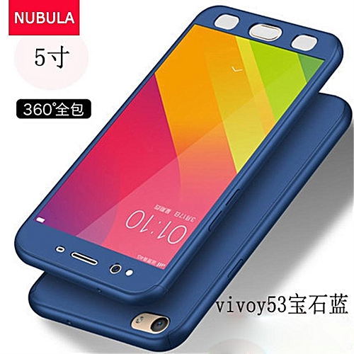 check out dfc39 4e0b6 Phone Case For VIVO Y53 360 Degree Real Full Body Ultra-thin Hard Slim PC  Protective Case Cover With Tempered Glass 731264 Color-1