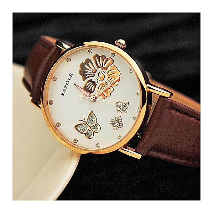 Nice Fashion Student Ladies Watch Women S Fine Rhinestone Belt Fashion Watch Quartz Watch Brown2