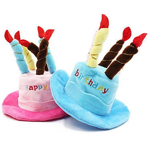 Allwin Pet Caps Happy Birthday Hat With Cake Candles Design Party