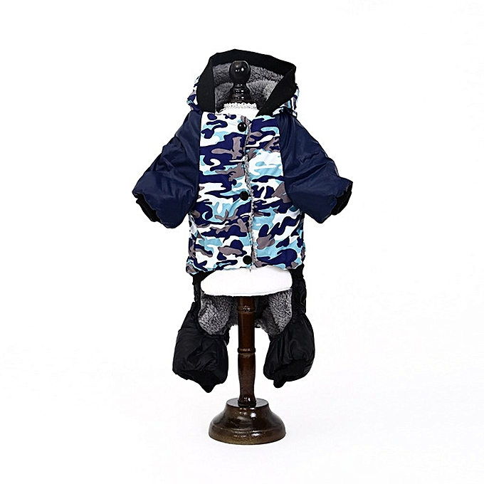 e3b2495bcb69 ... Dog Jumpsuit Warm Casual Pet Hooded Pajamas Puppy Cat Clothes Pets  Apparel blue XL ...