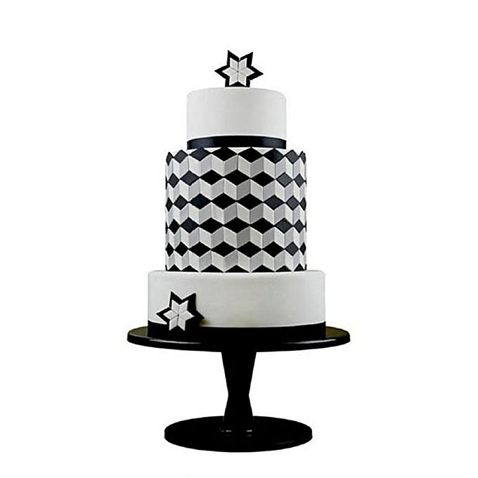Square Geometric Fondant Cookie Cutter Cake Mold Decorating Tools Baking White