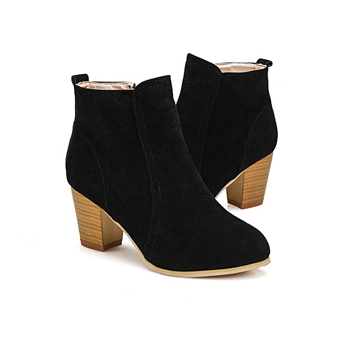 4f062b3e5cc5b6 Autumn Winter Boots With High Heels Boots Shoes Martin Boots Women Ankle BK/ 35 -