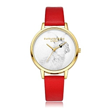 Luxury Women's  LVPAI Wrist Watches  Watches Women Quartz Wristwatch Clock Ladies Dress Gift Watches RD-Red
