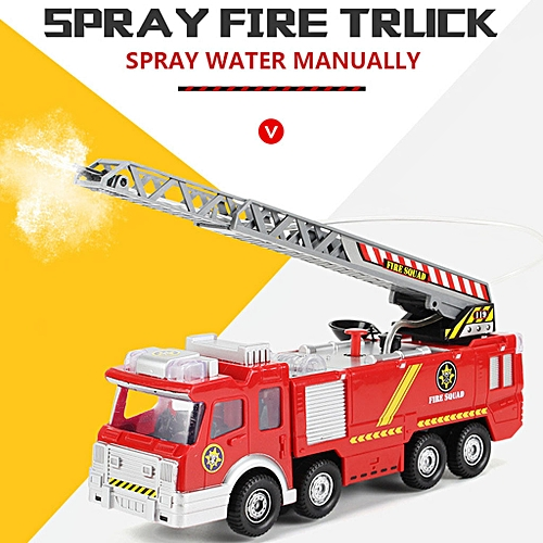 Boapsd Shop Shooting Water Lights N Sounds Fire Truck Toy Rescue Vehicle  Gift for Kids