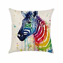 1PC Simple Painting Cartoon Zebra Home Decor Sofa Cushion Covers Pillow Case H01