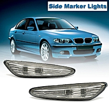 Pair Left Right Smoked Turn Indicator Side Marker Lights For BMW 3 5 X3 Series E46 E60 E61 E83 2000 2001 2002 2003 2004 2005