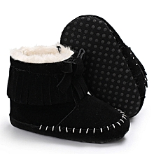 967b0506988a2 Baby Girl Soft Sole Booties Snow Boots Infant Toddler Newborn Warming Shoes -Black