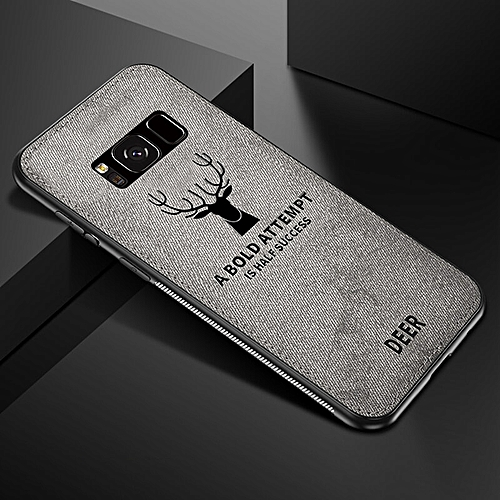 detailed look 8bcaa 43f2c for S8 Plus case Luxury Phone Cases Samsung Galaxy Edge Case Fabric Leather  Cloth Deer Soft 360-Grey