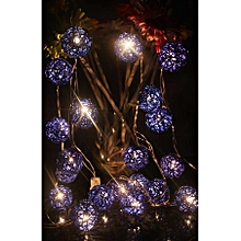 New Beautiful Colorful 30 LED Ball-Shaped String Fairy Lights 5CM*4M-Blue And White