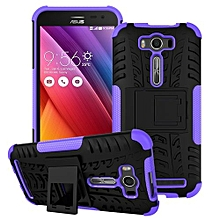 "ZE500KL Case, Hard PC+Soft TPU Shockproof Tough Dual Layer Cover Shell For ASUS [Zenfone 2 Laser 5.0""], Purple"