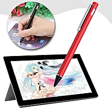 Universal Capacitive Stylus Pen 1.8mm High Precision Ultrafine Copper Tip Red