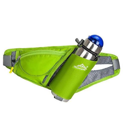 dbd0541f8e Generic Women Waist Bags Sports Water Bottle Holder Outdoor Running Belt Bag  Waist Bag Backpack Key Stuff Waist Pack Hiking Pockets Bag(Green)