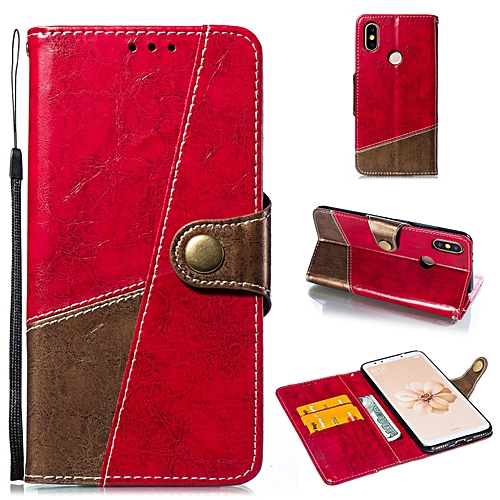 Generic Case For Xiaomi Mi A2 Premium Slim Wallet Leather Flip Case Cover With Holder For Xiaomi Mi 6X (Red)