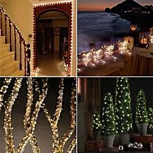 20M 200LED Solar String Lights Christmas Wedding Party Decoration- Warm White