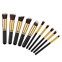 10PCS Cosmetic Makeup Brush Brushes Set Foundation Powder Eyeshadow -Black