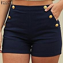 b1ab42c34 ZANZEA Women High Waist Casual Slim Stretchy Shorts Summer Ladies Hot Pants  Plus