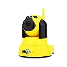 HSY - FH4 Dog Type 720P WiFi 10pcs IR LED Indoor IP Camera EU Plug - Yellow