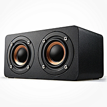 Wireless Bluetooth Wooden Speaker Stereo Subwoofer TF Card Soundbar For