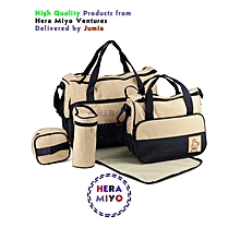 Stylish Waterproof Multi Pockets Large Capacity Baby Diaper Bag-Black