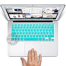"""13"""" Air Skin, EURO Type Russian Silicone Keyboard Cover For 2008-2015 Macbook 13.3"""" 15"""" Pro Reitna/Imac G6, Sky Blue"""