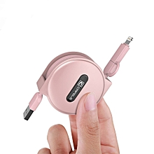 2 in 1 Retractable Lightning Charger Cable Suitable For Android IOS