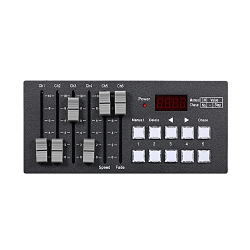 DC7-9V 0 2W Mini DMX512 Console Stage Light Controller Built-in 2000mAh  High Capacity Rechargeable Battery Portable for Party Concert DJ Show Bar  Club