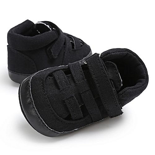 89b9510a3388f bluerdream-Baby Infant Kids Girl Boys Soft Sole Crib Toddler Newborn  Sandals Shoes-Black