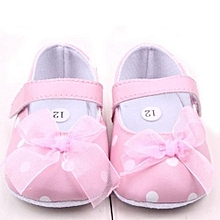 bluerdream-Newborn Shoes Soft First Walker Anti-skip  Backing Princess Shoes PK 13- White