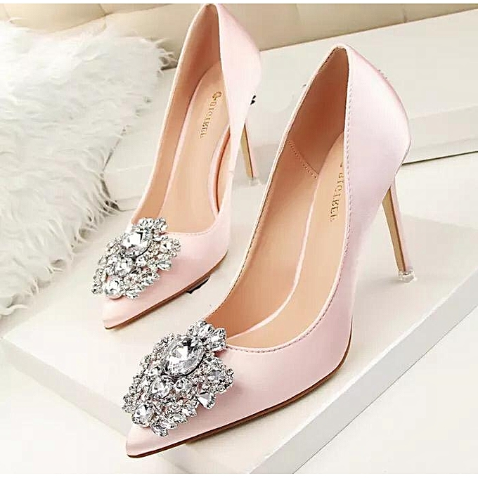 d0581ef8e2d Fashion Thin Heel Pointed Toe Women High Heels Shoes - Pink   Best ...