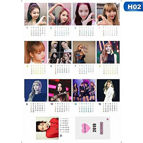 2019 KPOP BTS Bangtan Boys Album And Blackpink Photo Desk Calendar Card  Books Fans Gift