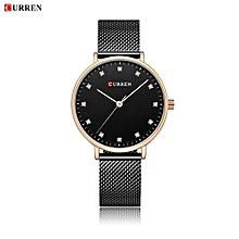 Women Watch New Quartz Wristwatches Top Brand Luxury Fashion Watches Ladies Quartz Wristwatch - Black