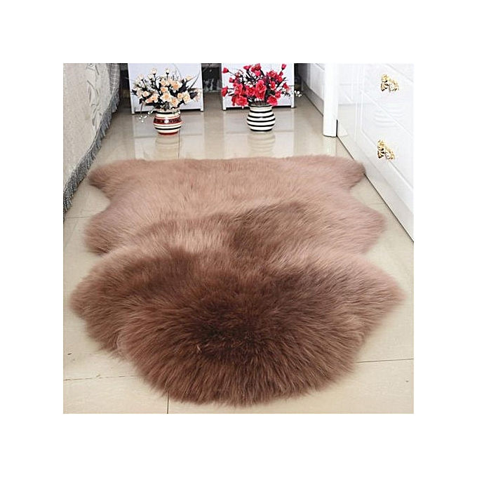 Generic Fluffy Faux Fur Skin Rug Soft Fake Mats Bedroom