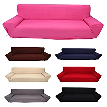 4 Seater Solid Color Stretch Elastic Slip Resistant Sofa Slipcover