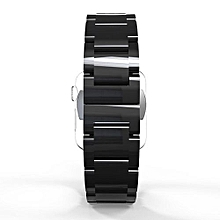 Ceramic Closure Strap Replacement Wrist Band For Apple Watch Series 1/2 42mm BK