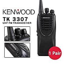 Kenwood TK-3307 TK3307 3307 Professional 16 Channels UHF FM Transceiver Handheld Two-way Radio Walkie Talkie (1 Pair)
