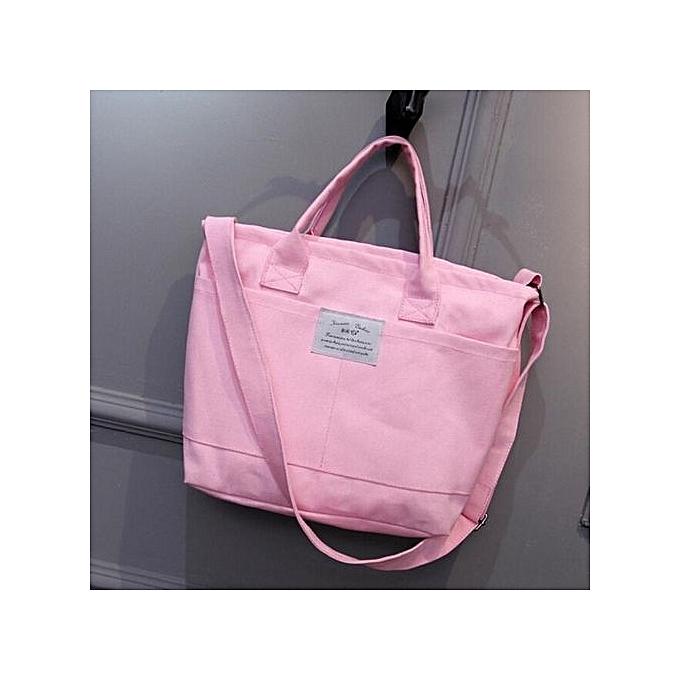 bb9d2cb29 bluerdream-Fashion Women Casual Simple Canvas Handbag Cross Body Shoulder  Messenger Bag PK- Pink