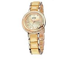 Elegant Ceramic Golden Watch