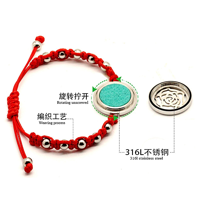 This life year of the titanium steel perfume bracelet red we