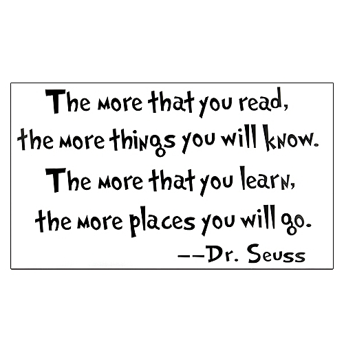 buy generic saying quote dr seuss wall mural sticker decal home room