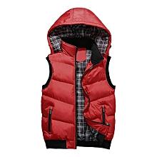 Men Slim Vest Warm Waist Coat - Red